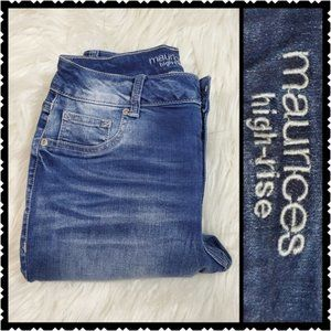 Maurices size 5r skinny high rise med wash jeans